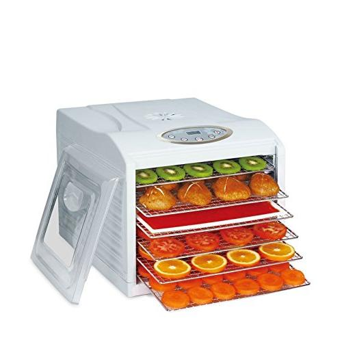 BioChef Dehydrator 6 FREE - Non Stick x Fine Sheet & Drier for Fruit,