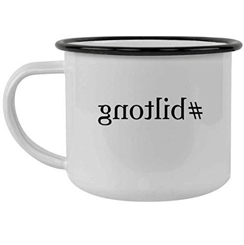 biltong 12oz hashtag stainless steel camping mug