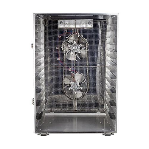 BioChef 16 Commercial Stainless Steel Dehydrator Trays Timer