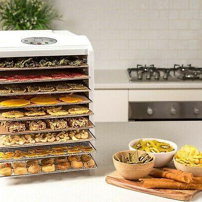 Dehydrator 9 BPA FREE Stainless Steel Drying Trays...