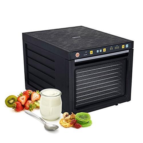 BioChef Savana Machine FREE Steel Trays, Dual-Fan System Technology, Glass , 3 Fruit & Dryer