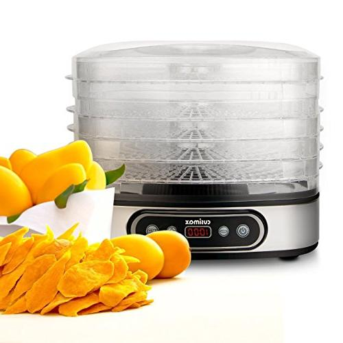 Cusimax BPA-Free Dehydrator - Temperature and Timer - Led Vegetable Dryer - -
