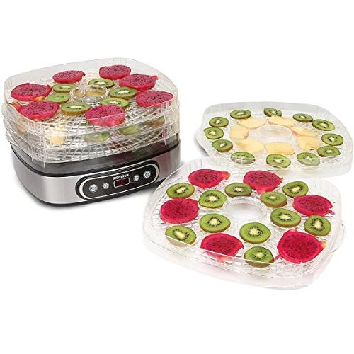 Cusimax BPA-Free Electric Dehydrator - 5 Food Temperature and Led Display Vegetable -