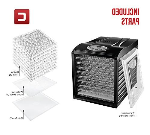Professional Preserver, Meat Vegetable Dryer Slide Trays Glass