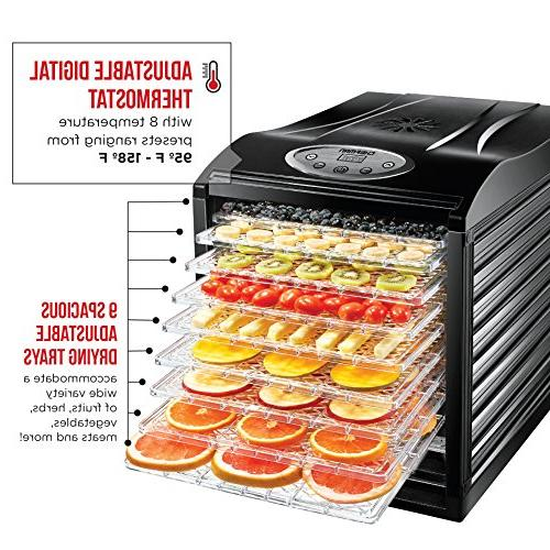 Professional Electric Preserver, Beef Jerky Fruit Vegetable Slide Out Glass -