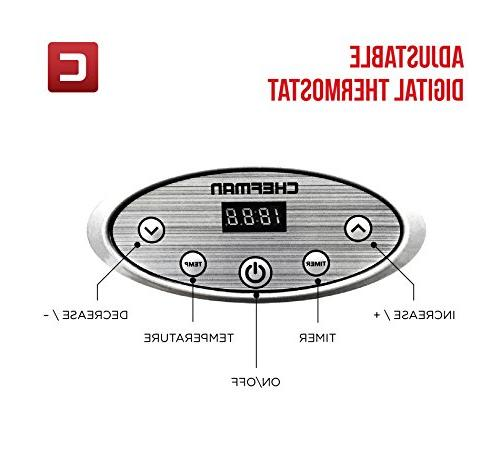 Chefman Machine Professional Electric Multi-Tier Food Preserver, Jerky & Slide Out Glass Door