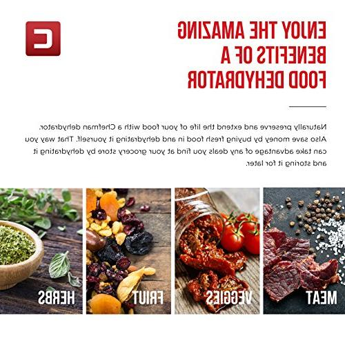 Chefman Food Professional Multi-Tier Preserver, or Jerky Fruit Vegetable with 9 Slide Trays Glass Door