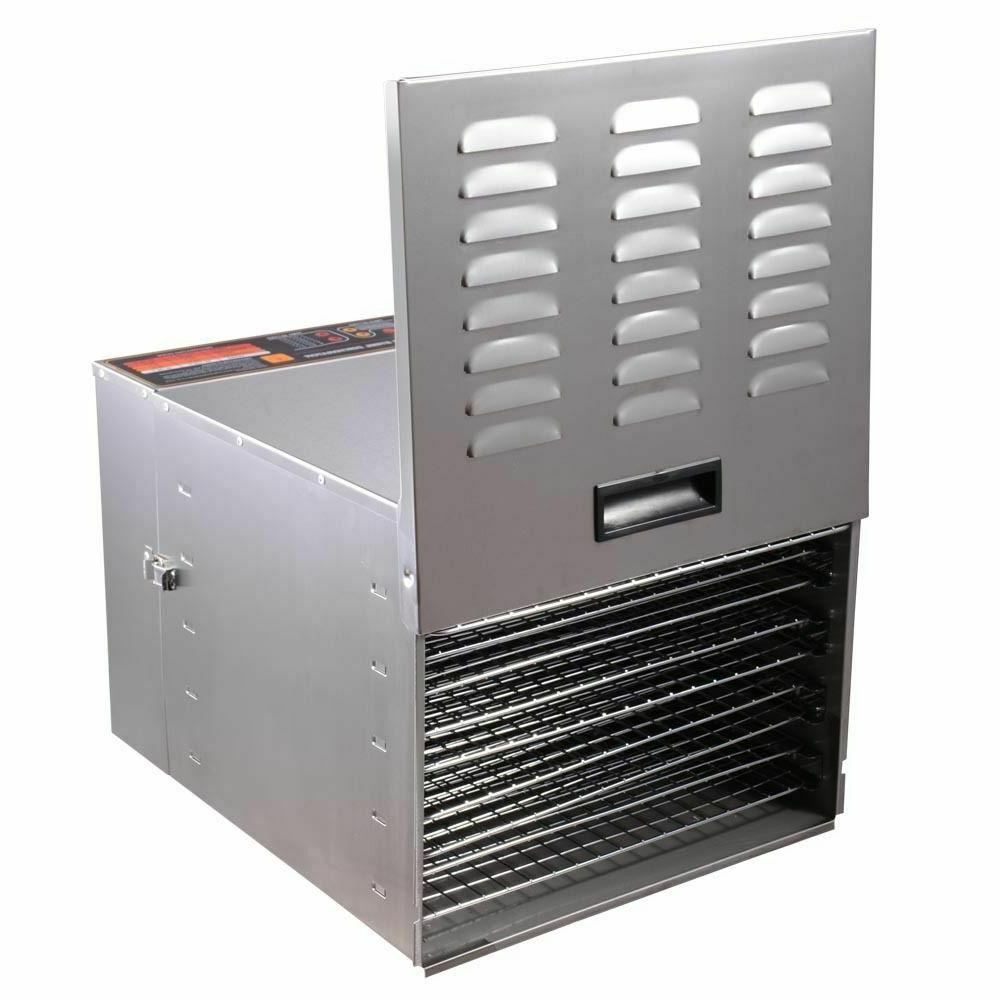 Commercial Tray Stainless Steel Dehydrator Meat Jerky Dryer Blower