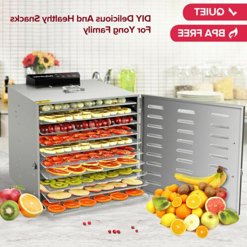 commercial 10 tray stainless steel food dehydrator