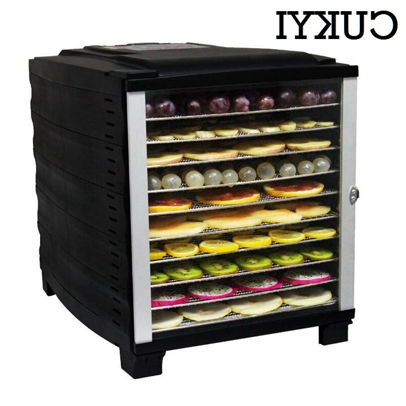 CUKYI Electric Fruit <font><b>Dehydrator</b></font> Food Dryer Vegetable Herbs Meat Drying