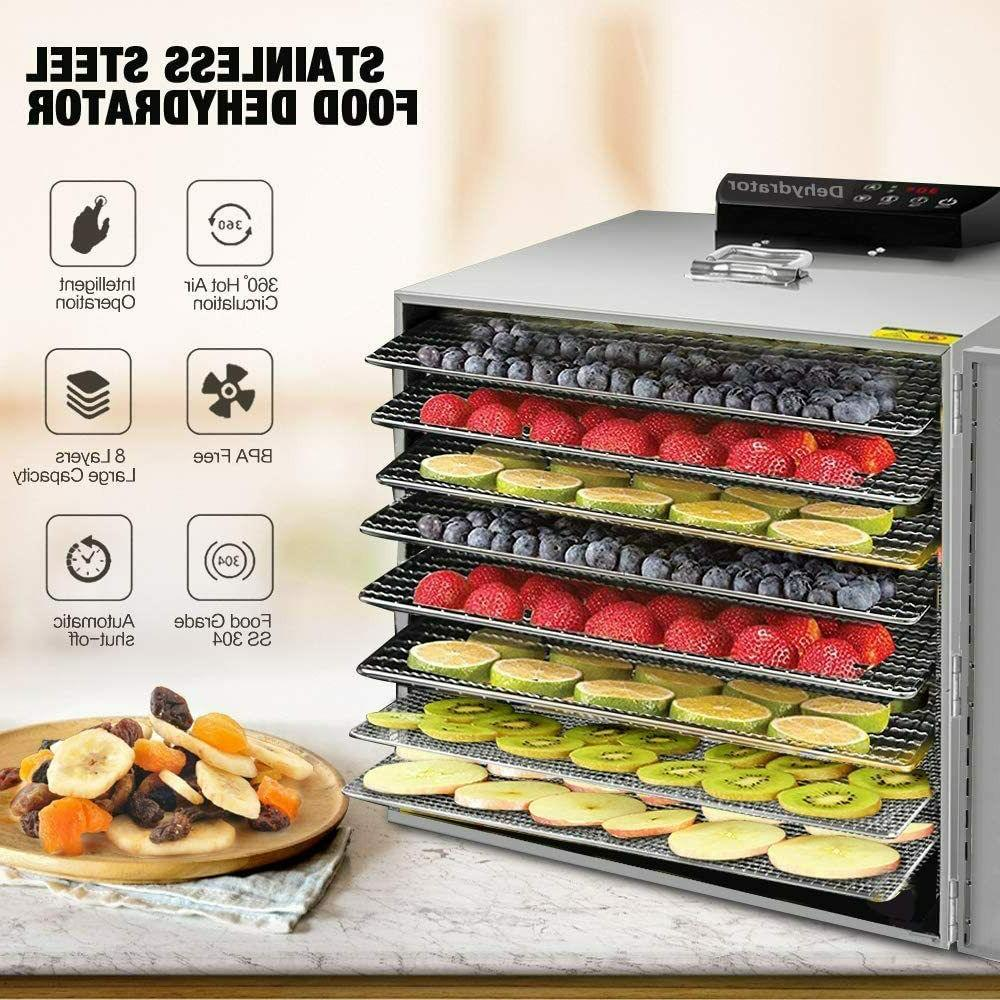 Commercial Food Dehydrator 8 Tray Meat Jerky Dryer