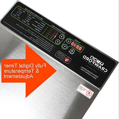 Crawford Commercial Food Dehydrator Easy Body | Pro Raw High Effieciency