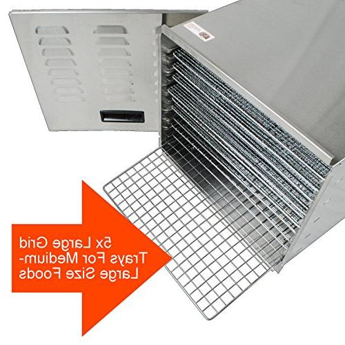 Dehydrator | Steel Easy To Clean Body | Raw Maker | High Effieciency