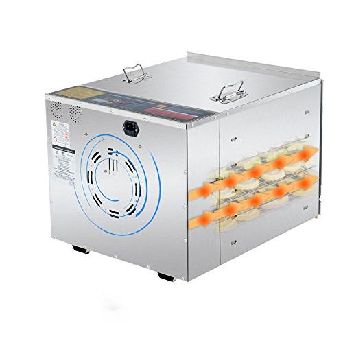 CO-Z Grade Steel Machine, Meat Jerky Fruit with 10 Degree Jerky with Hour Timer, 1000W