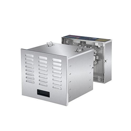 CO-Z Stainless Steel Machine, Jerky Maker, Dryer with 10 155 Degree Fahrenheit, Jerky Safe with 1000W