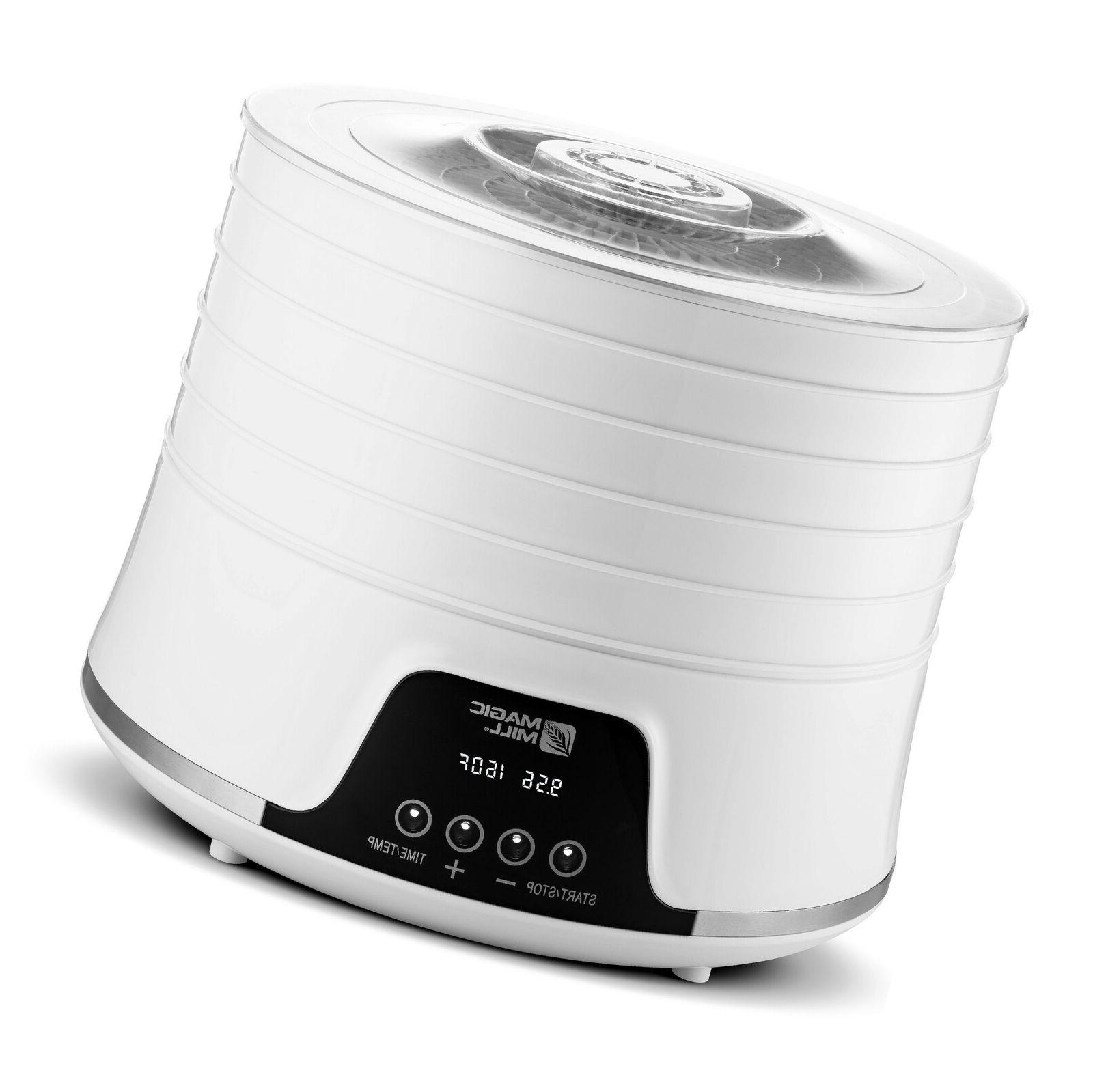 commercial pro 5 tray food dehydrator white