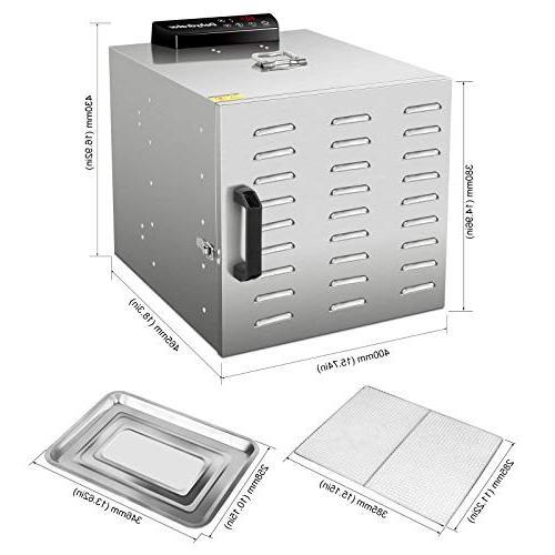 Commercial Dehydrator -Raw Food & Jerky Dehydrator -10 Trays 1000W Food Nutrition Vegetable Dryer, with Digital