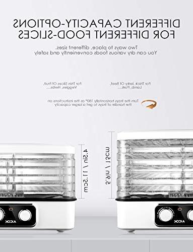 Dehydrator Professional 5-Tray Food Dehydrator, Machine with Extensible Capacity, 95-158ºF for Jerky, Fruit, BPA & 240W