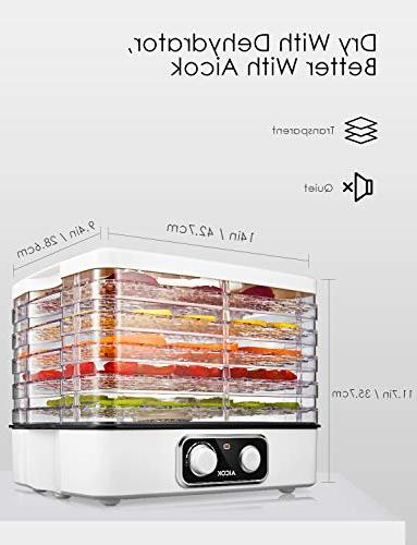 Dehydrator Food Dehydrator with Extensible Temperature 95-158ºF for Beef Jerky, Fruit, BPA free 240W