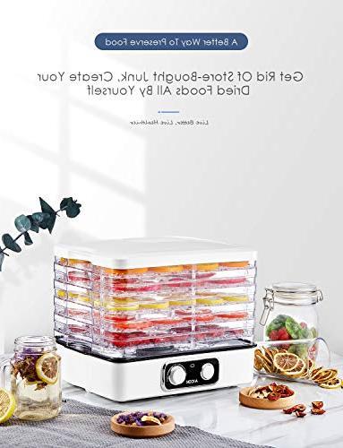 Dehydrator Aicok, Professional Food Dehydrator, with 95-158ºF for BPA Dishwasher-Safe, 240W