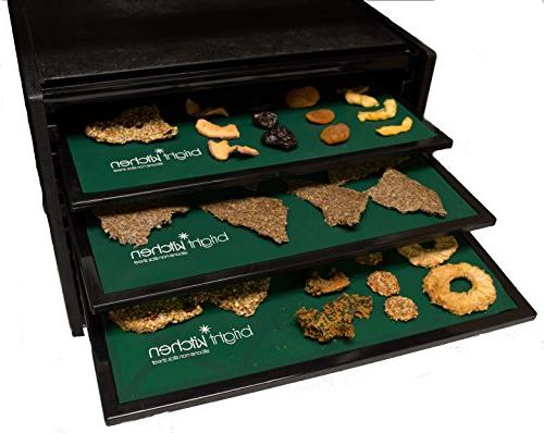 """Dehydrator Crust Drying for Excalibur Dehydrating 14"""" x 14"""" Tortilla Cracker Cookie Pizza Drying Bright Brand"""