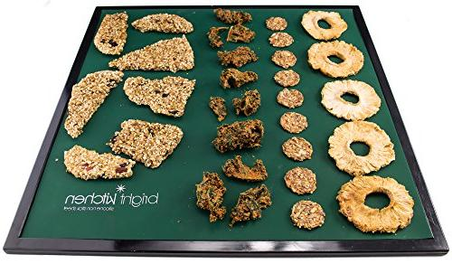 """Dehydrator Mold Shape Crust + 3 Drying Silicone for 14"""" x 14"""" Tortilla Cracker Pizza Drying Bright Brand"""
