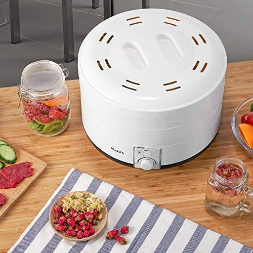 Dehydrator Aicook, Professional Food Height-adjustable Against Light, for Vegetable, Dishwasher-safe, 500W