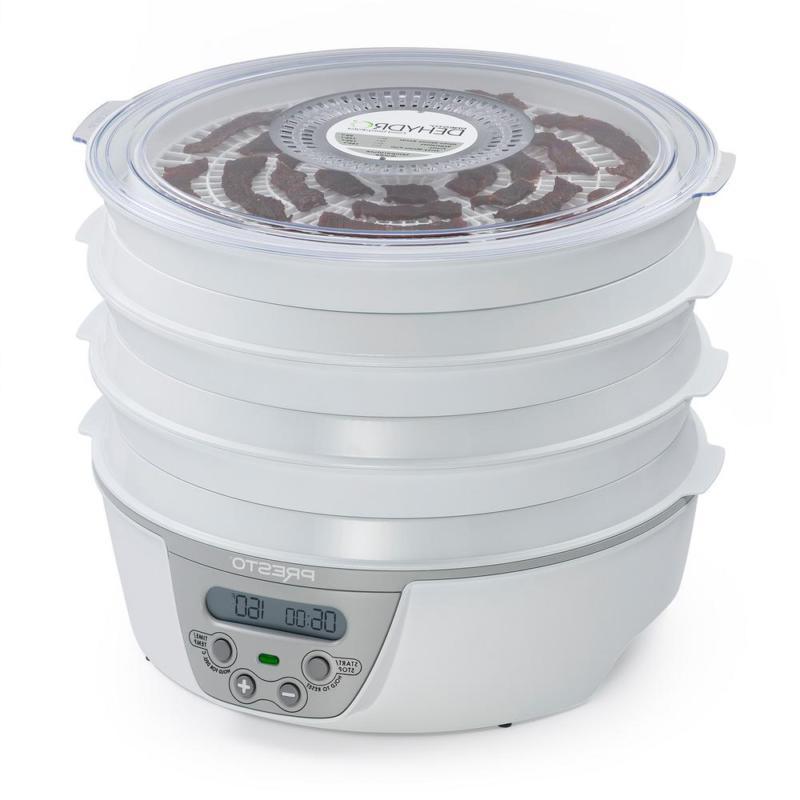 Dehydro White Digital Food Dehydrator with Digital Thermostat an