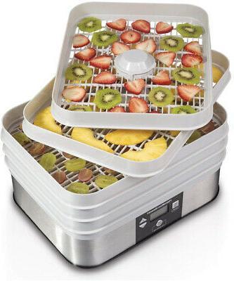 digital food dehydrator 5 tray gray 32100a