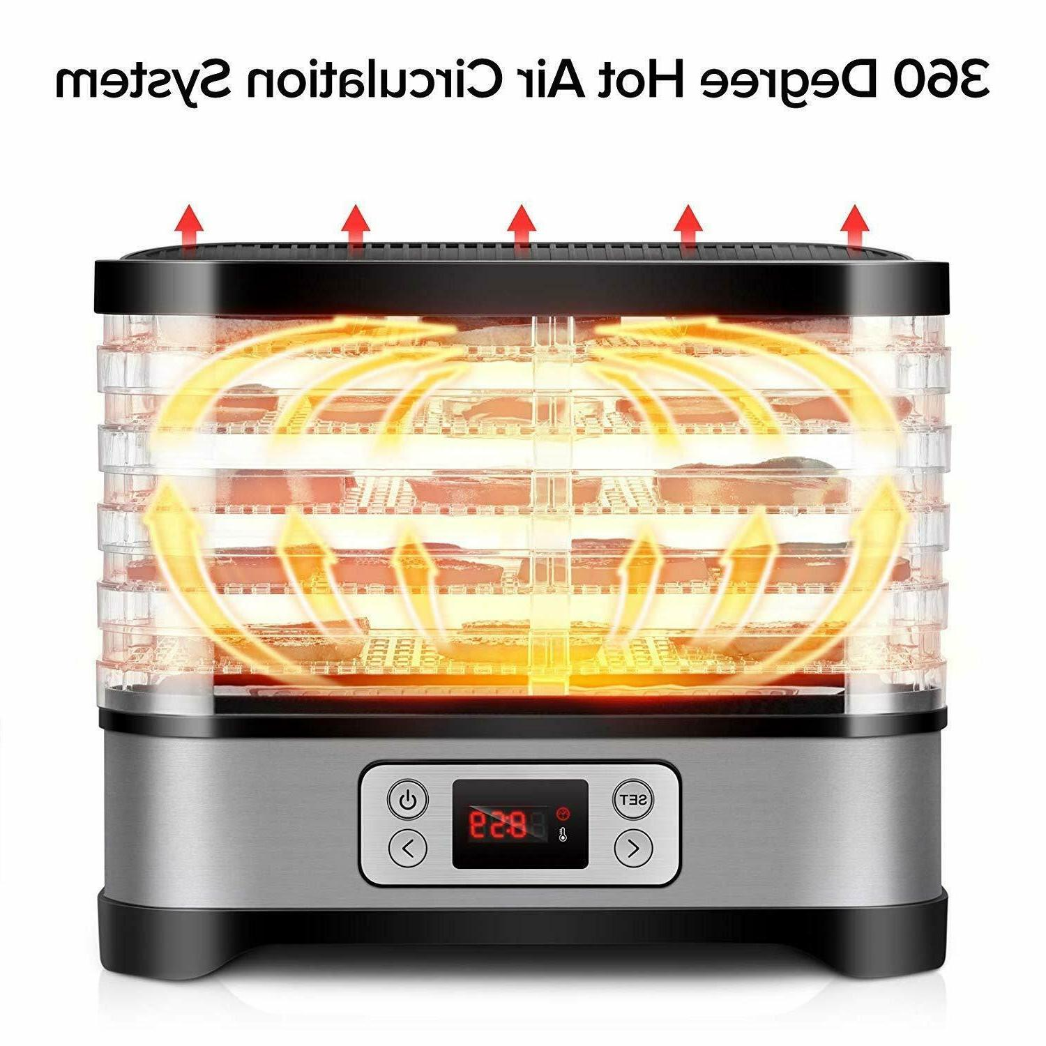 Electric Food Dehydrator 8 Food with