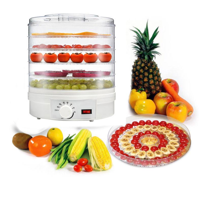 Electric 5 FOOD DEHYDRATOR Machine Fruit Meat Maker