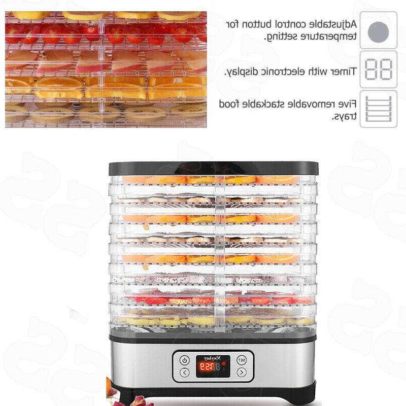 Electric Food Dehydrator 8 Digital Food