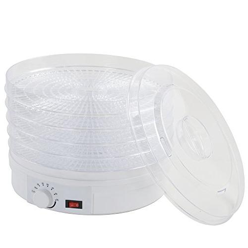 Electric Food Dehydrator Digital Timer Temperature Control,250W and