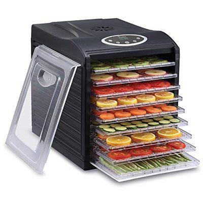 Ivation 9 Tray Electric Machine - 600w - Digital Timer with 95ºF to 158ºF Drying Beef Jerky, Vegetables Nuts, BPA Free