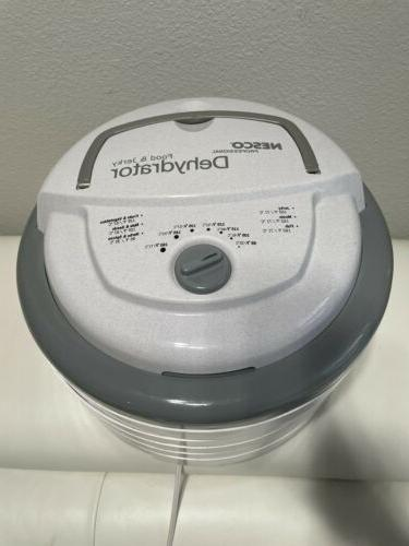 NESCO Food Dehydrator Gray Adjustable Thermostat