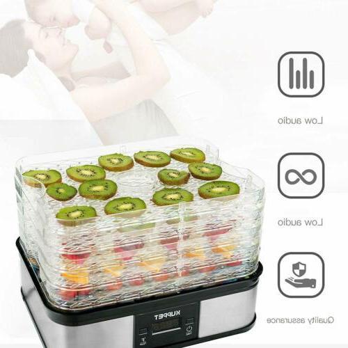 5 Tray Food Dehydrator Dryer Fruit Beef