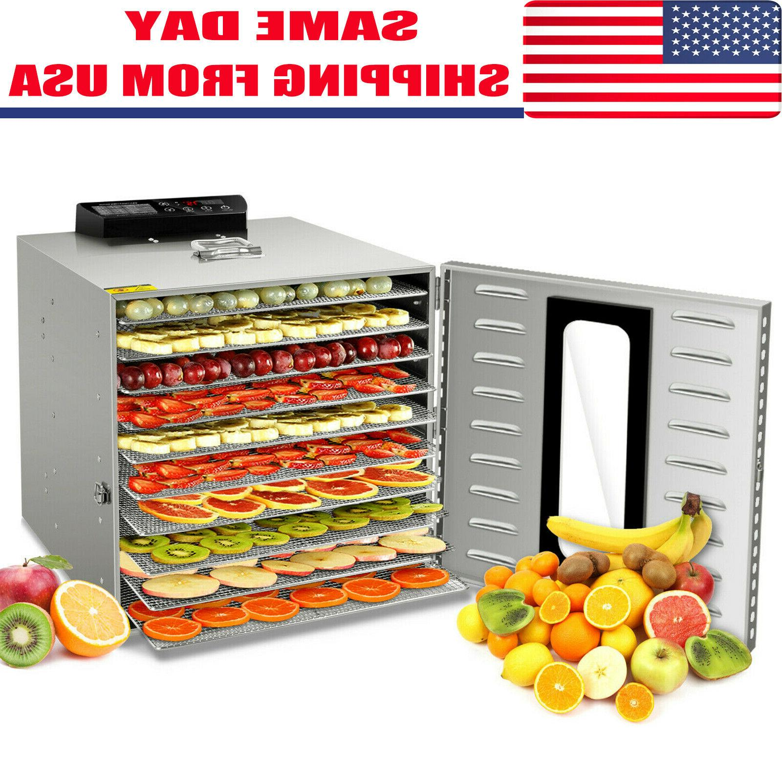 food dehydrator 10 tray stainless steel fruit