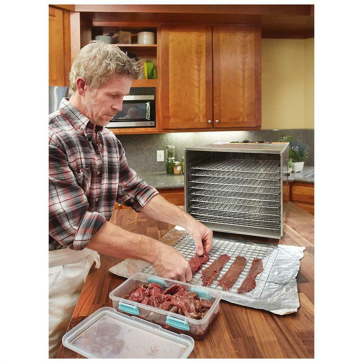 Food Dehydrator 10 Stainless Fruit Jerky Meat Dryer Blower