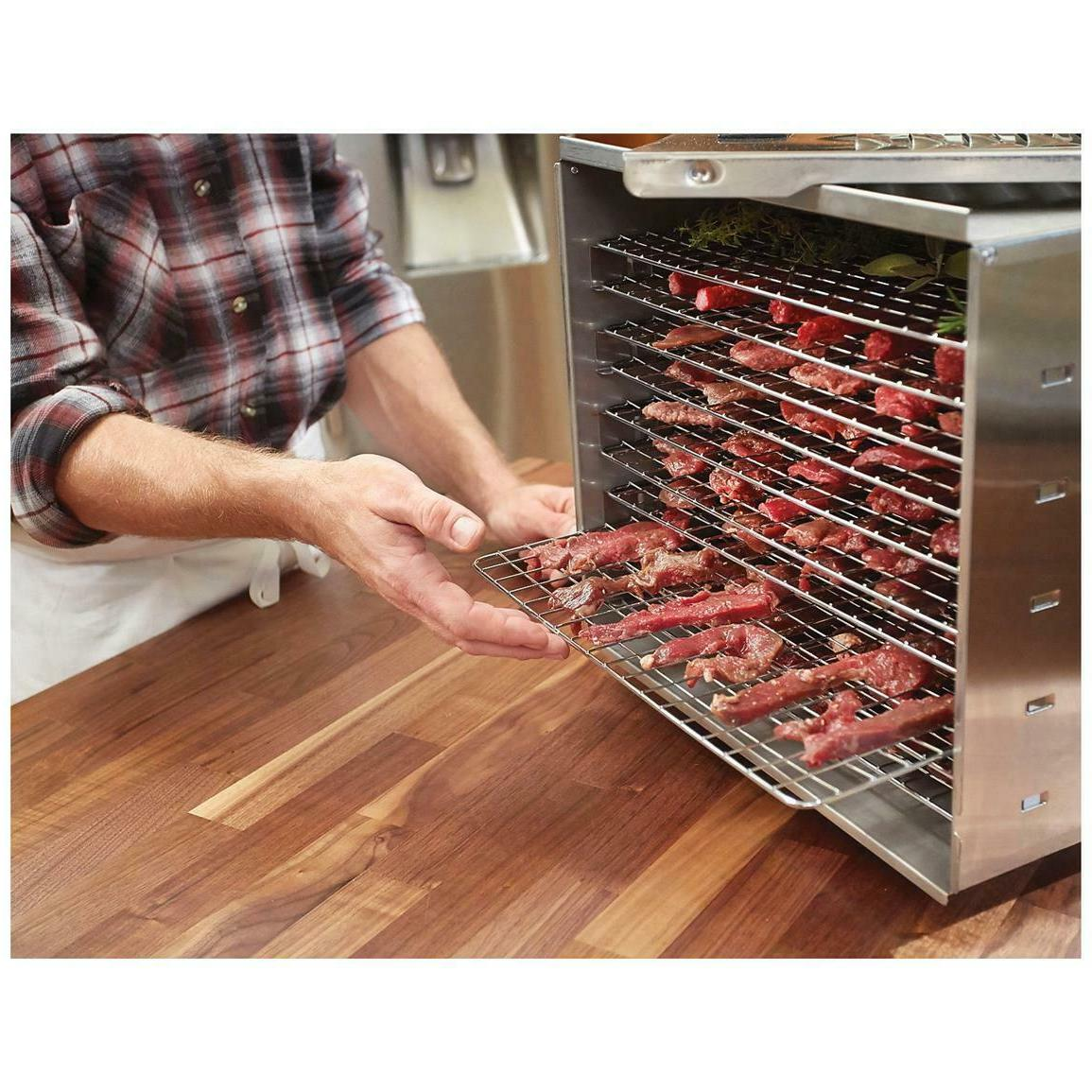 Food 10 Tray Stainless Steel Meat Dryer Commercial