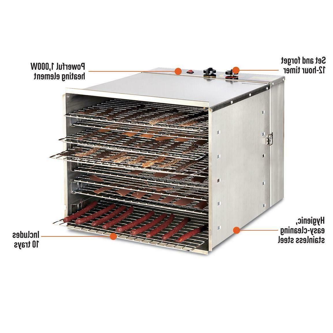 Food Dehydrator 10 Stainless Steel Jerky Meat Dryer Commercial