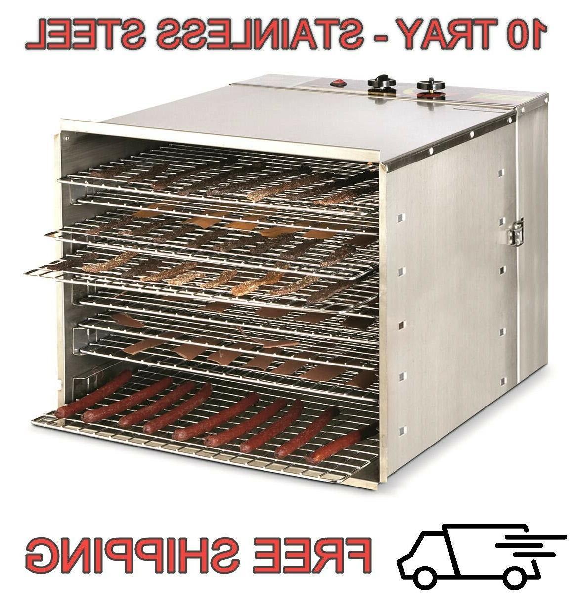 food dehydrator 10 tray stainless steel fruit