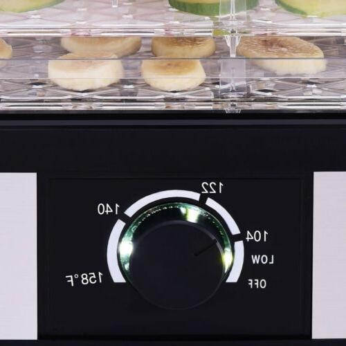 Food Dehydrator 5 Food Fruit Vegetable Dryer Temperature Control