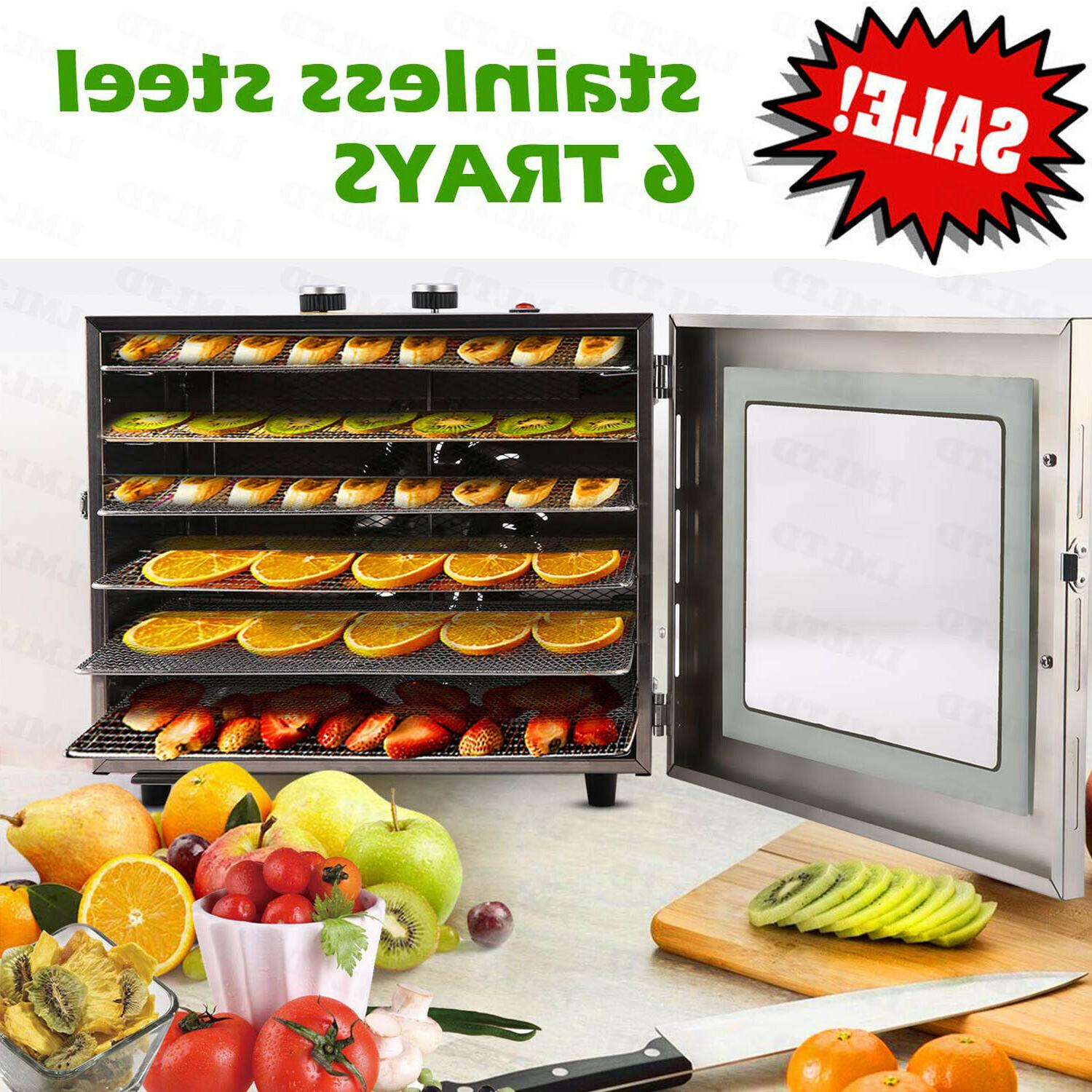 food dehydrator 6 tier stainless steel fruit