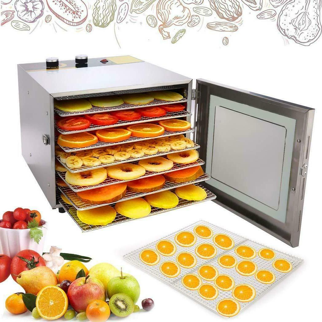 600W Dehydrator Commercial 6Tray Stainless Steel Food Fruit