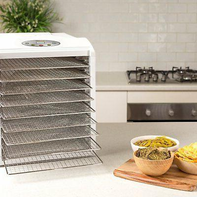 Food Dehydrator BioChef Arizona Sol 9 Digital Display Timer - White