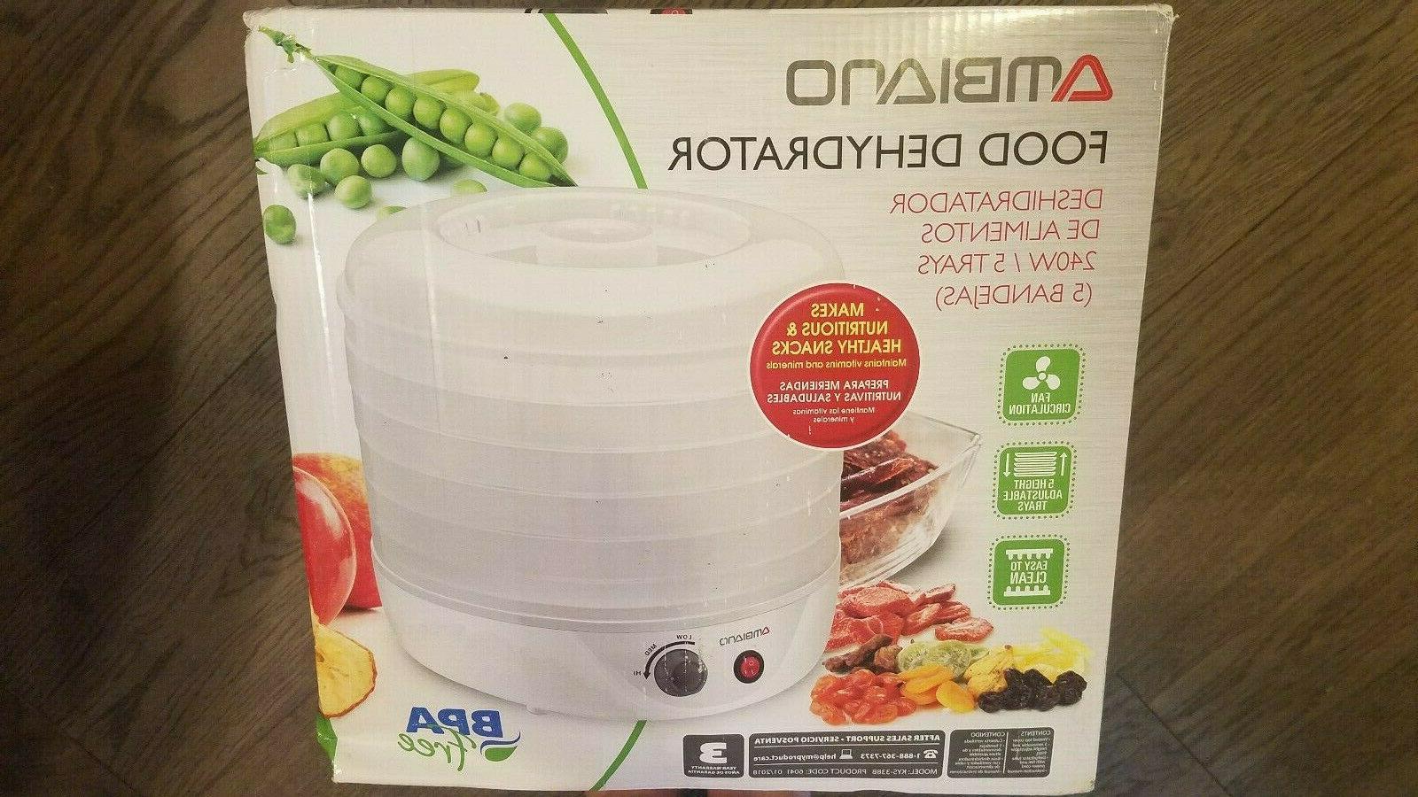 food dehydrator bpa free 240w brand new