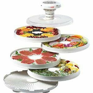 Food Dehydrator, with four speckled accessories, dries