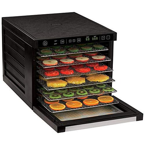 Rosewill Dehydrator 6-Tray Dehydrating for Making Beef Healthy Snacks Electric Dehydrator Food Preserver with Drying Fans RHFD-18001