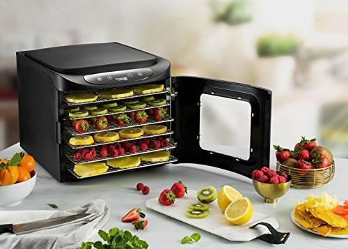 MAGIC MILL Professional Dehydrator Machine, Steel Food Preserver, 2 Fruit Leather 2 1 Set Ovens