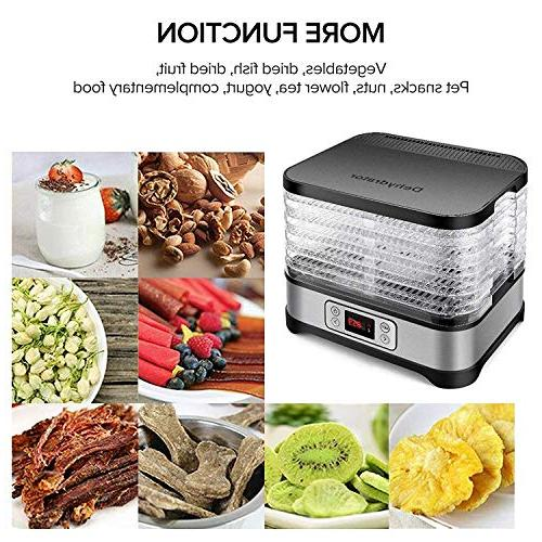 Food Dehydrator Digital Timer Temperature BPA Free/450 Watt/Updated